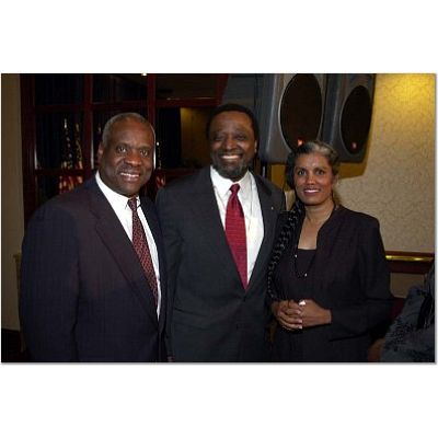 Thomas with Alan Keyes and his wife